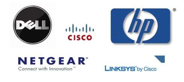 Dell Cisco HP Netgear Linksys